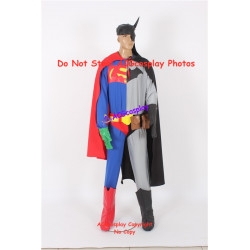 DC Comics Batman Composite batman with superman cosplay costume