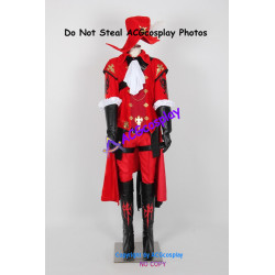 Final Fantasy XIV Red Mage Cosplay Costume velvet made include boots covers