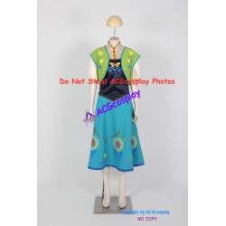 Disney Frozen Anna Cosplay Costume Frozen Fever Dress Cosplay