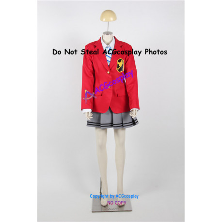 Fairy Tail Erza Scarlet Cosplay Costume school uniform