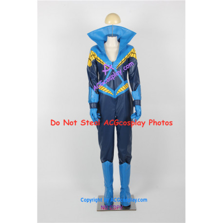 DC Comics The New Teen Titans Cosplay Nightwing Cosplay Costume faux leather made
