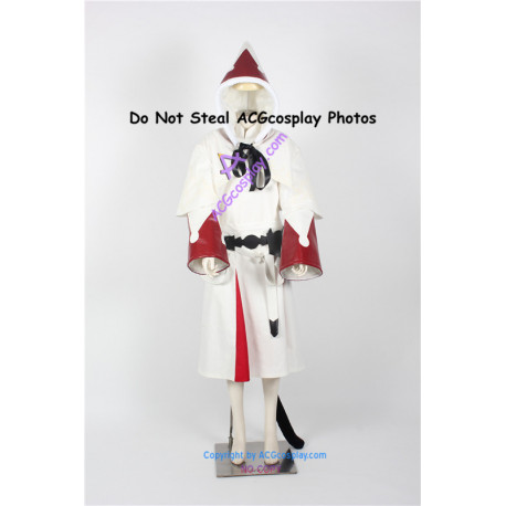Final Fantasy White Mage Male Cosplay Costume include tail