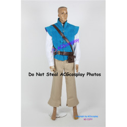 Disney Tangled Flynn Rider Cosplay Costume royal blue suede fabric version