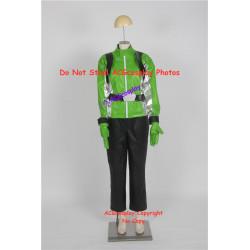 Tokumei Sentai Go Buster Iwaskai Ryuuji Blue Buster Cosplay Costume  green version