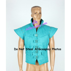 Disney Tangled Flynn Rider Cosplay Costume green-blue VEST ONLY