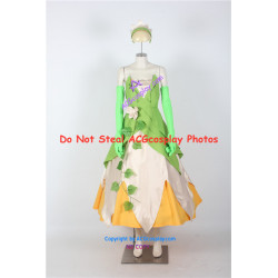 Disney The Princess and the Frog Tiana Cosplay Costume dress cosplay