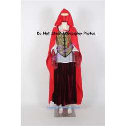 Once Upon a Time Ruby's Red Riding Hood Damask cosplay costume
