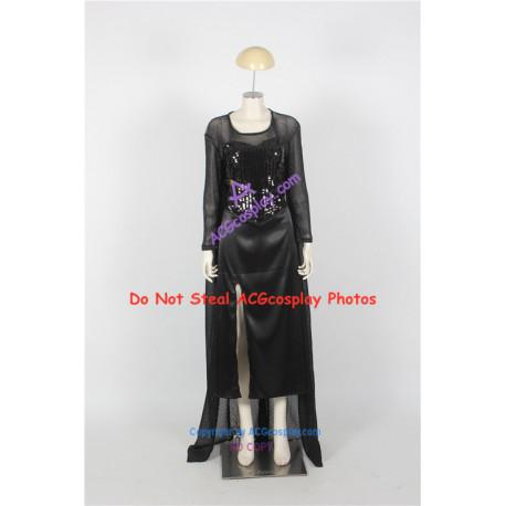 Disney Frozen Elsa Cosplay Costume black dress