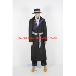 Case Closed Detective Conan Gin Cosplay Costume