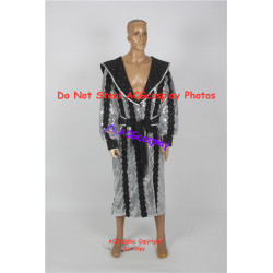 WWE GLORIOUS robe silver shining fabric made robe and belt cosplay costume