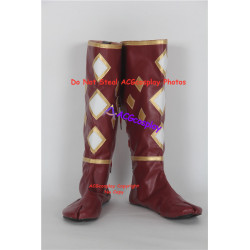 Power Rangers Red Ninjetti Ranger ninja Cosplay Shoes boots dark red version