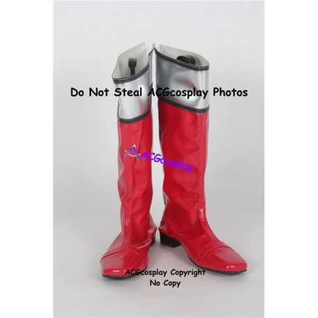 Power Rangers Time Force Red Time Force Ranger Cosplay shoes cosplay boots