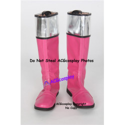Power rangers cosplay Jen Pink time force ranger cosplay boots cosplay shoes
