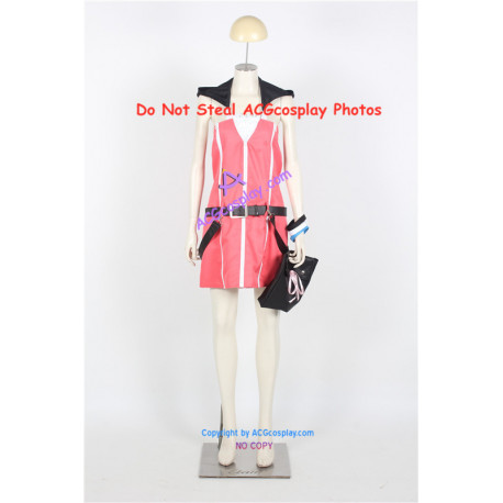 Kingdom Hearts 2 Kairi cosplay costume pink dress include big bag