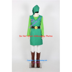 Legend of Zelda Toon Link Cosplay Costume green version cosplay