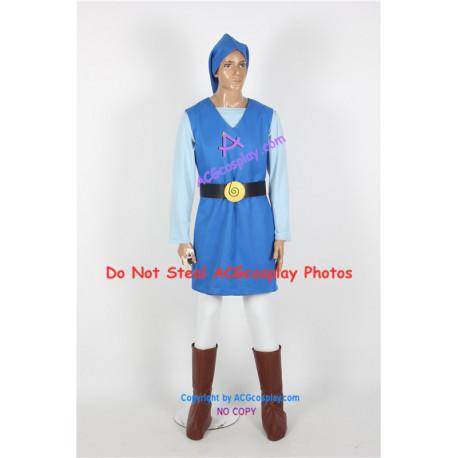 Legend of Zelda Toon Link cosplay costume blue version cosplay
