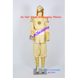 Mighty Morphin Power Rangers Yellow Ninjetti Ranger Cosplay Costume