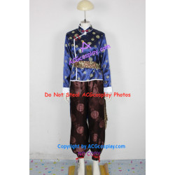 Tekken lei Wulong cosplay costume brocade fabric made