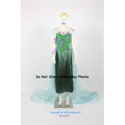 Frozen Elsa Cosplay Costume Frozen Fever Dress cosplay