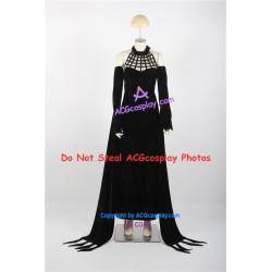 Soul Eater Arachne Cosplay Costume black velvet fabric dress
