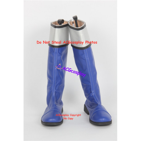 Power Rangers Blue Time Force Ranger Cosplay shoes boots