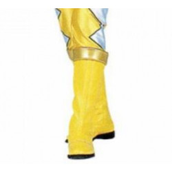 Power Rangers Dino Thunder Yellow Dino Ranger Cosplay boots shoes and gloves