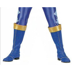 Power Rangers Dino Thunder Blue Dino Ranger Cosplay boots shoes and gloves