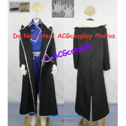 Fullmetal Alchemist Brotherhood Olivia Armstrong cosplay costume incl.collar pin and gloves