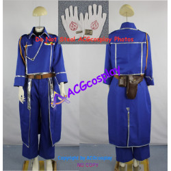 Fullmetal Alchemist Riza Hawkeye Cosplay Costume incl. gloves and collar pin and bags
