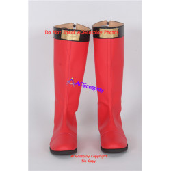 Power Rangers Ninja Storm boots Red Wind Ranger Cosplay boots shoes