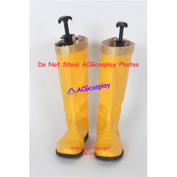 Power Rangers Dino Thunder Yellow Dino Ranger Cosplay boots shoes