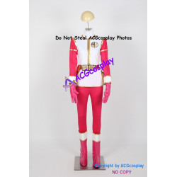 Gosei Sentai Dairanger Cosplay Costume for MALE pink ranger cosplay include boots covers