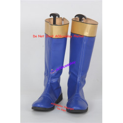 Power rangers Ninja Storm Blake Bradley Navy Thunder Ranger cosplay shoes boots