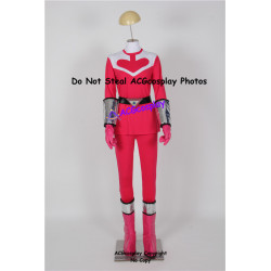 Pink time force power ranger cosplay boots shoes and cuffs and gloves