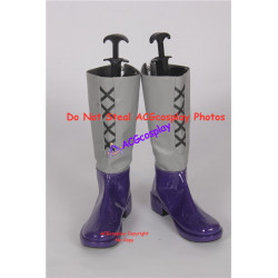 Ancient Warriors Legacies of Olympus purple set cosplay shoes boots