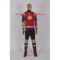 Power Rangers Ninja Storm Crimson Thunder Ranger Cosplay Costume dark red version