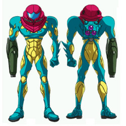 Metroid fusion cosplay fusion suit cosplay costume with back pack prop cosplay