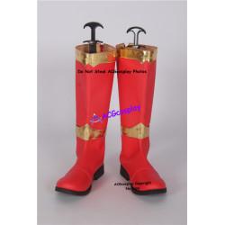 Power Rangers dino knight red Kishiryu Sentai Ryuusouger Ryuusou red ranger cosplay boots shoes