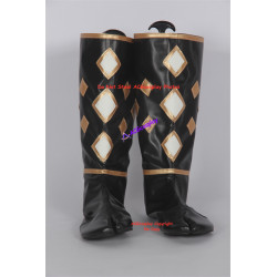 Mighty Morphin Power Rangers Black Ninjetti Ranger Cosplay Boots Shoes