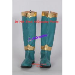 Power Rangers dino fury green Kishiryu Sentai Ryuusouger Ryuusou green ranger cosplay boots shoes