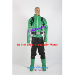Tokumei Sentai Go Buster Iwaskai Ryuuji Blue Buster Cosplay Costume faux leather made