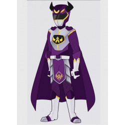 Masterforce suit purple set cosplay costume and real boots shoes cosplay