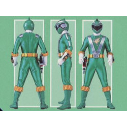 Green RPM power ranger suit cosplay costume with real boots