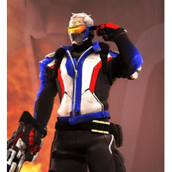 Overwatch Cosplay soldier 76 Cosplay Costume Jacket Only faux leather made