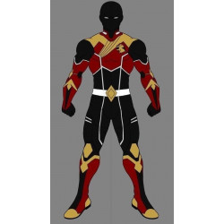commission cosplay costume and real boots shoes no neck gap and no headmask