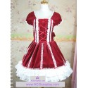 Lolita dress velvet fabric made with lace