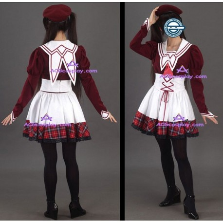 11eyes SATSUKI KAKE school uniform Cosplay Costume