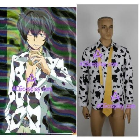 Katekyo Hitman Reborn Lambo Cosplay Costume Shirt And Tie