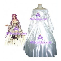 code geass death Euphemia cosplay costume white dress