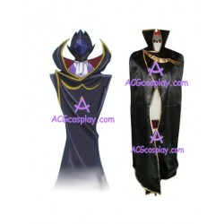 Code Geass Lelouch of the Rebellion Zero Black Knights Cosplay cloak cape